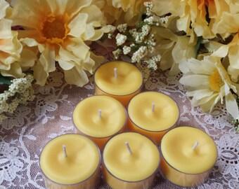 4 Lemon Pound Cake Tea Lights, Soy Tealights, Soy wax