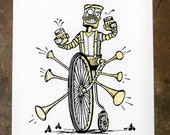 Pedalbot - hand pulled screenprint poster