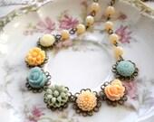 Flower Girl Necklace Pastel Wedding Jewelry Gift For Flower Girl Little Girl Jewelry Pastel Children Necklace Rustic Wedding Jewelry