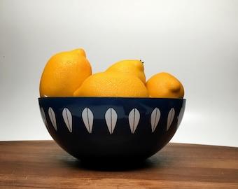 """CathrineHolm Lotus Enamel Bowl - blue 7 1/4"""" - Grete Prytz Kittelson (#1)"""