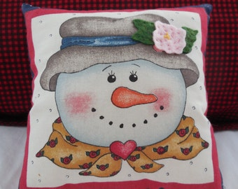 Mrs. Snowman  Pillow