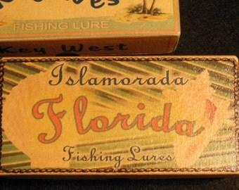 Islamorada Key West Key Largo  Florida beach house decoration fishing lure boxes