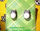 Totoro Inspired Stud Earrings