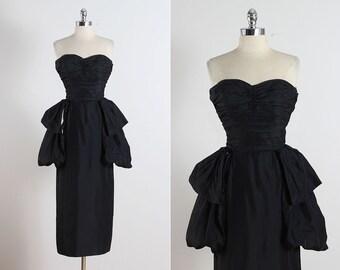 Clifton Wilhite . vintage 1950s dress . vintage cocktail dress . 5174