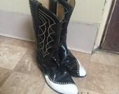 1960s Womens Handmade Laramie Cowboy Boot