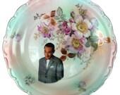 """Pee-wee Herman Portrait Plate - Altered Vintage Plate 12"""""""