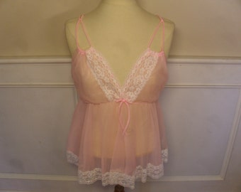Vintage 1960's  Avian Pink Nightie  Deadstock