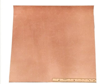 LEATHER SIDE PIECE Veg Tan Split Medium Weight 4 Square Feet  24 x 24 inches