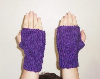 Purple Fingerless Gloves for Women's fingerless gloves Hand Warmer - Purple Gifts - Womens gift