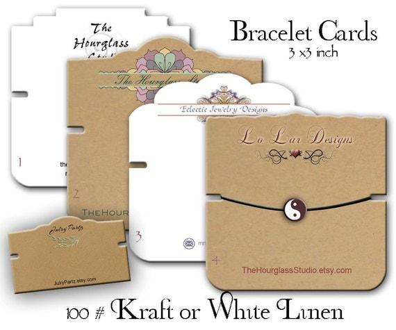 Diy Bracelet Display Card: Bracelet Cards Custom Bracelet Cards By TheHourglassStudio