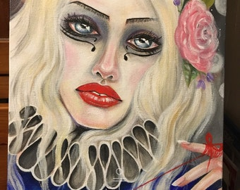 Rememberall... Original Art, lowbrow art, kimturnerart, australian artist, memory, bigeye art, popsurrealism, original painting