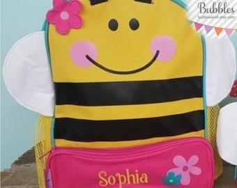 Girls Stephen Joseph Personalized Sidekick Bumblebee Backpack