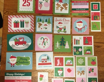 Doodlebug SANTA CLAUS project life cards - set of 39