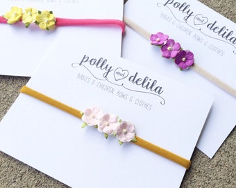 Tiny flowers with nylon headband-choose your color