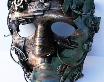 decayed halloween steampunk mask,