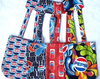 PEPSI Every Bag,Your Choice of Pepsi Cans on Red,Have a Pepsi Day, Pepsi Mod Swirls, Pepsi Bottle Caps, Remote Control Holder, Car Trash Bag