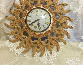 Mid Century Syroco Resin clock