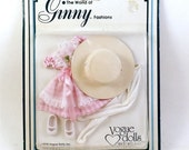 1978 The World of GINNY Fashions - Pink Gingham Dress Hat Tights and Shoes Mint Sealed