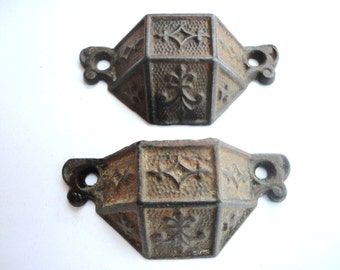 Pair of Ornate Antique Handles dated 1869