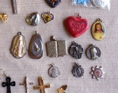 Knights Templar vintage York Rite Masonic Star Medallion Religious Jewelry lot cross crucifix necklaces pins medals Wear Repurpose Destash