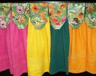 Hanging Kitchen Towels - Flowers - Birds