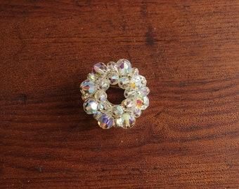 Vintage Crystal Circle Pin