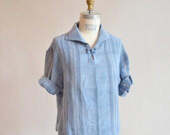 30% OFF STOREWIDE / Vintage 1990s woven LINEN blouse