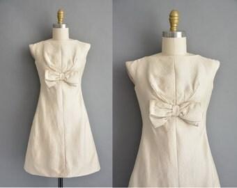 60s Mardi Gras ivory silk vintage dress / vintage 1960s dress