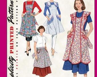 Simplicity 3544 - Misses '48 and '52 Vintage Style Aprons - SZ S/M/L - Simplicity Patterns