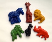 CRAYONS Natural Eco Friendly SOY CRAYONS African Safari Animals, Eco Toy, Gift for Kids, Kids Gift, Stocking Stuffer