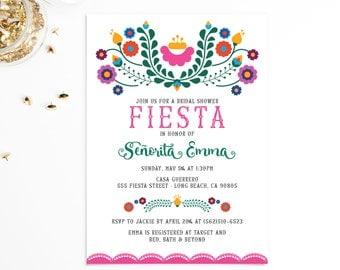 Bridal Shower Invitation | Mexican Fiesta, Cinco de Mayo | EMMA