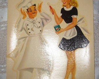 1940s Kitch MeyerCord Decals Pin Up N Chief