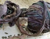 Sari Silk Recycled Ribbon in a Summer Nights Blend