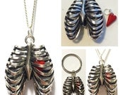 Rib Cage with Heart Pendant
