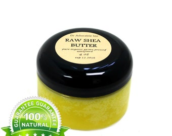 4 oz Raw Unrefined Shea Butter From Ghana