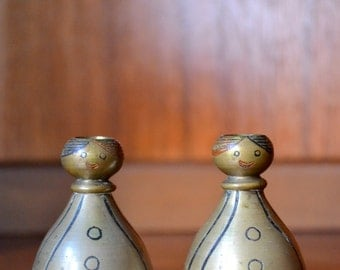 vintage figural brass bells of sarna
