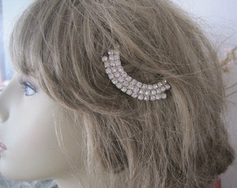 Vintage Art Deco Rhinestone Hair Pin Bobby Pin Bridal Hair Accessory