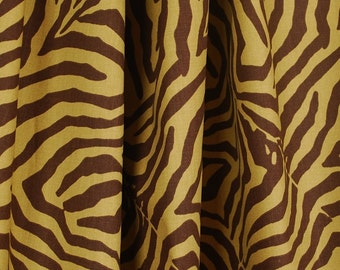 Waverly Wildlife Chestnut Brown Animal Print Fabric