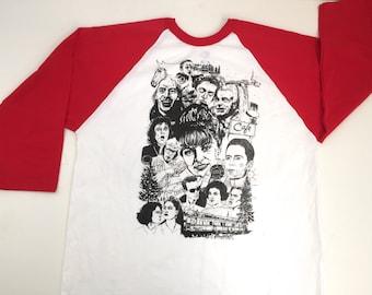 TWIN PEAKS baseball style long sleeve david LYNCH t-shirt