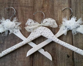 custom made RHINESTONE covered WEDDING dress hanger