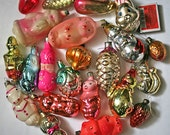 Vintage Christmas Decorations Glass Baubles Ornaments set of 20 Set 14 1970s from Russia Soviet Union USSR