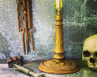 Table  Lamp / Cast Iron / Pull Chain Switch
