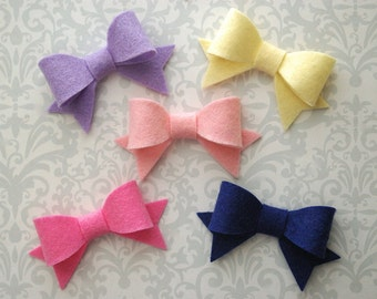 Felt Bow Hair Clip - Pick A Color - Felt Bows, Felt Bow, Hair Bow, Felt Hair Clip, Baby Hair Bow, Girls Hair Bow, Toddler Hair Bow