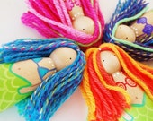 Large Mermaid Dolls Set - Set of 4 Wooden Peg Dolls - Summer Fun - Zooble