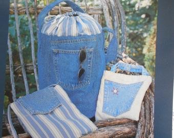 Forever In Blue Jeans Bucket Bag Sewing Pattern Indigo Junction IJ680 Cathy Pendleton