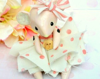 OOAK Shabby Romantic Mouse Doll