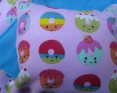 Donut Doll Bedding, blanket and pillow for 18 inch doll