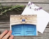 "Paris Photo Notecard - ""Door No. 15"" - Single Folded Card with Envelope, Blank Inside"