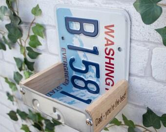 Bird Feeder, Washington License Plate Bird Feeder, Can be personalised.
