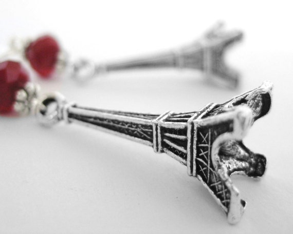 Wanderlust Jewelry - College Grad Gift For Her - High School Graduation Gift For Her - World Traveler Jewelry Sterling Eiffel Tower Jewelry